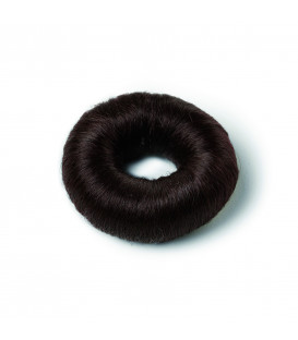 Brown synthetic hair bun (small)
