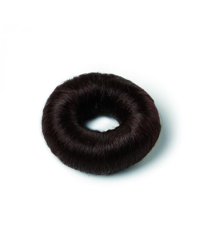 Brown synthetic hair bun (small)