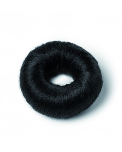 Black synthetic hair bun (small)