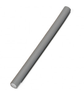Flexible hair rollers (grey, 18mm)