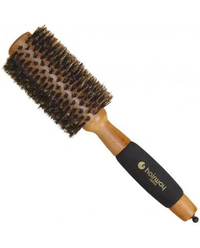 "Hairway ""Gold Wood"" apaļa koka matu suka, 50mm"