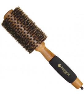 "Hairway ""Gold Wood"" round wooden brush, 50mm"