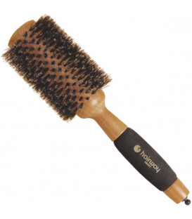 "Hairway ""Gold Wood"" round wooden brush, 65mm"