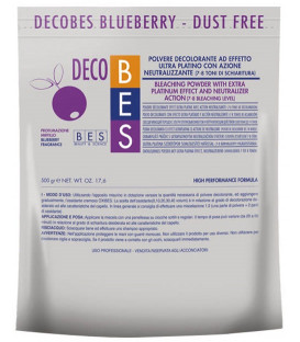 BES Decobes Pure White Blueberry balinošais pulveris