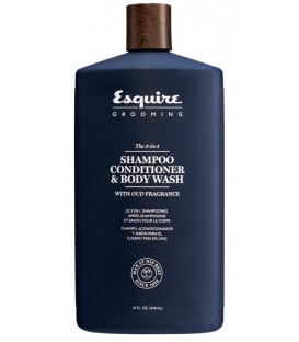 Esquire Grooming The 3-in-1 SHAMPOO, CONDITIONER & BODY WASH dušas želeja (414ml)