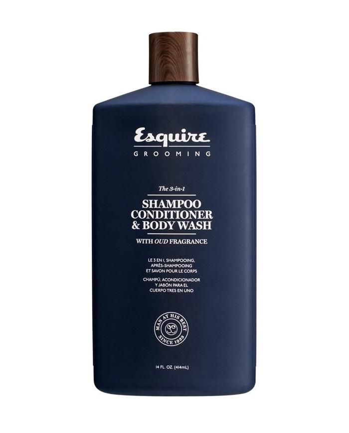 Esquire Grooming The 3-in-1 SHAMPOO, CONDITIONER & BODY WASH dušas želeja (414ml)