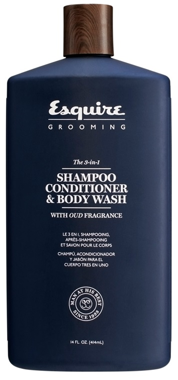 d349feec549e Esquire Grooming The 3-in-1 SHAMPOO, CONDITIONER & BODY WASH (414ml) -  4HAIR.LV