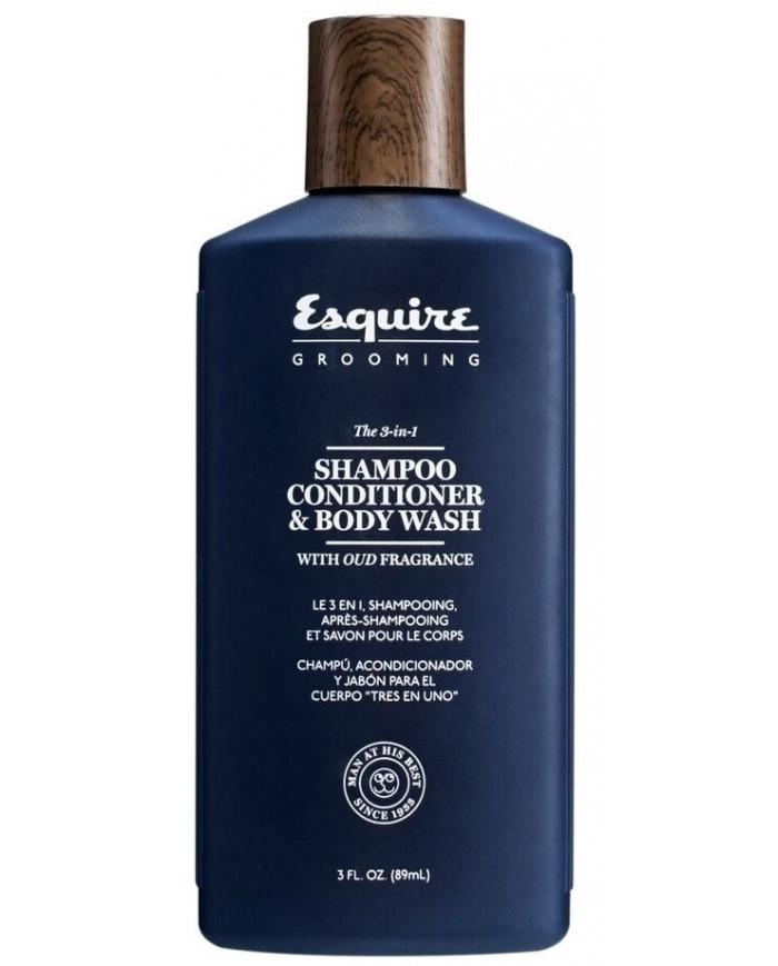 Esquire Grooming The 3-in-1 SHAMPOO, CONDITIONER & BODY WASH dušas želeja (89ml)