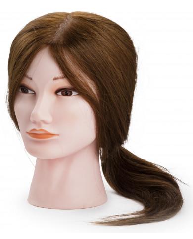 Manekens ar sintētiskiem, vidēji gariem matiem