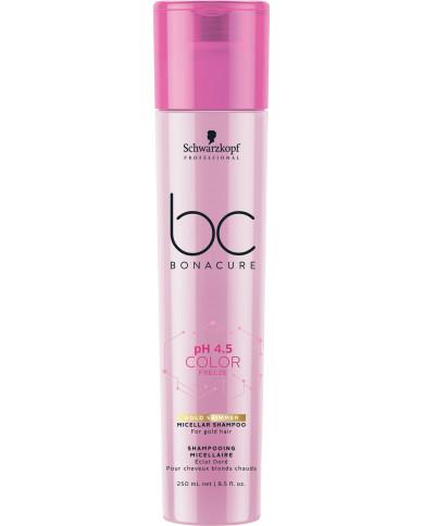Schwarzkopf Professional Bonacure pH 4.5 Color Freeze Gold Shimmer šampūns (250ml)
