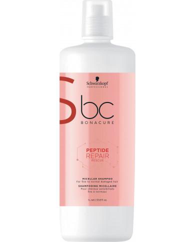 Schwarzkopf Professional Bonacure Peptide Repair Rescue micelārais šampūns (1000ml)