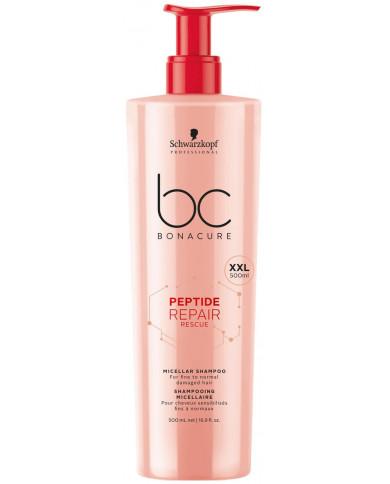 Schwarzkopf Professional Bonacure Peptide Repair Rescue micelārais šampūns (500ml)