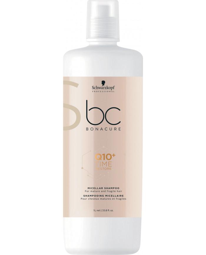 Schwarzkopf Professional Bonacure Q10+ Time Restore micelārais šampūns (1000ml)