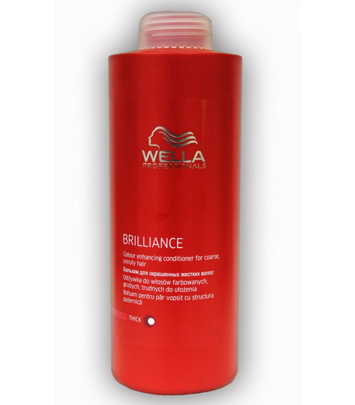 Wella professionals brilliance coarse conditioner 1000ml - Wella salon professional hair products ...