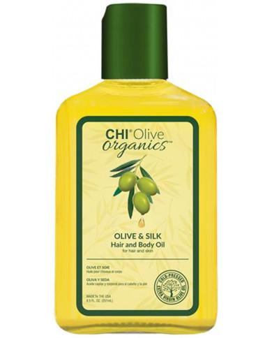 CHI Olive Organics olīvu un zīda eļļa (251ml)