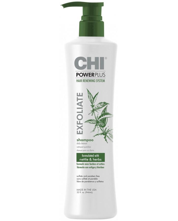 CHI POWERPLUS Exfoliate šampūns (355ml)