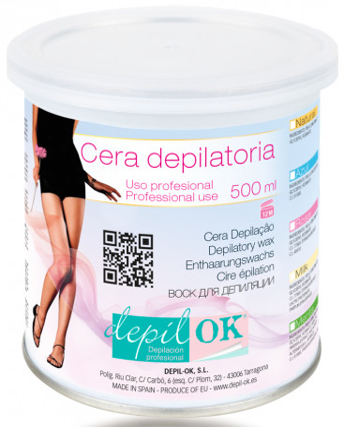 Depil OK Canned vasks depilācijai (500ml)