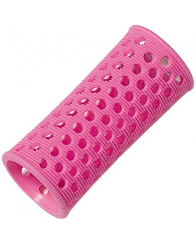 Comair plastmasas matu ruļļi (27mm-roza)
