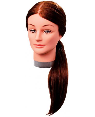 Efalock Laura practice head with long hair