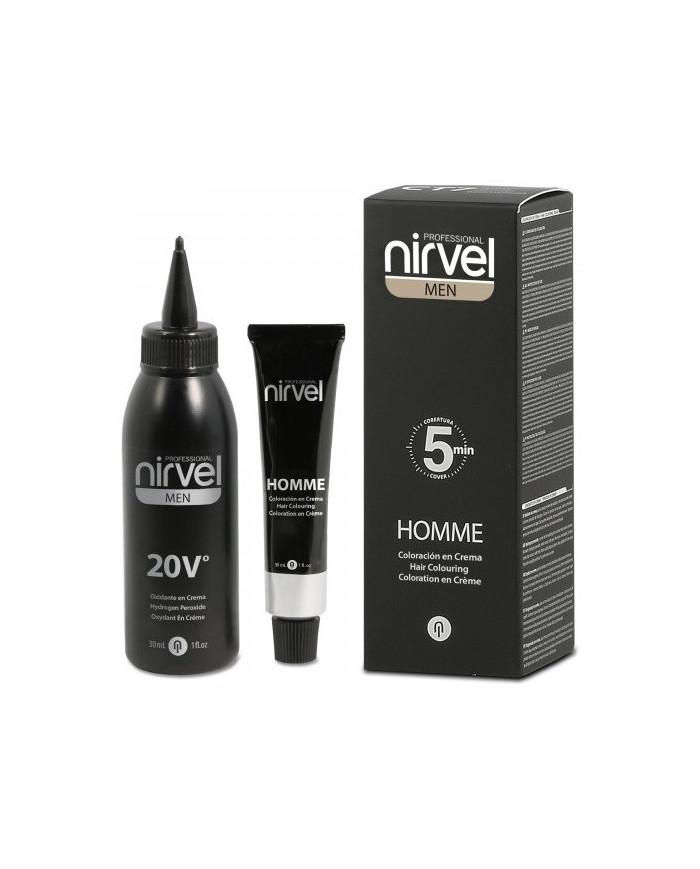 Nirvel Professional MEN HOMME Hair Colouring Cream krāsa vīriešiem