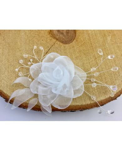 JZA kāzu dekorācija ar rozi un kristāliem