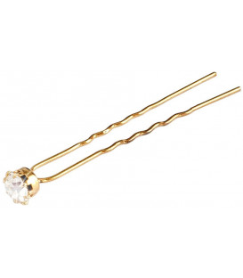 JZA hair pin with a white pearl