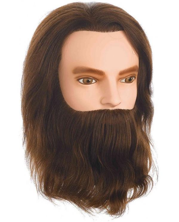 Sibel Karl manekens ar dabīgiem, vidēji gariem matiem un bārdu