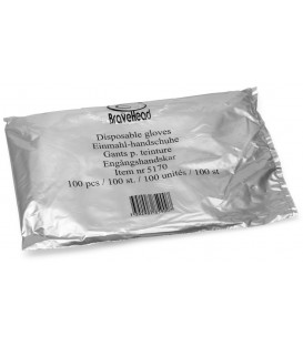 BraveHead disposable gloves (transparent, 100 pcs)