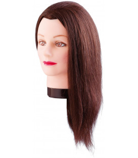 Comair Estelle practice head with long natural hair