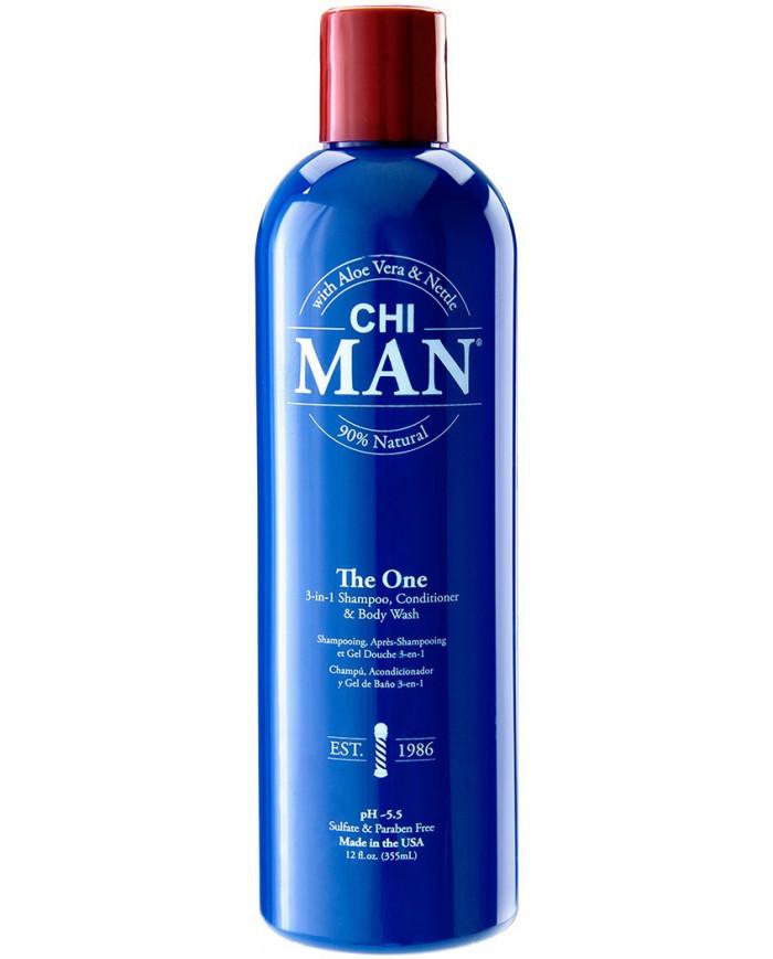 CHI Man The One 3-in1 šampūns, kondicionieris un dušas želeja (355ml)
