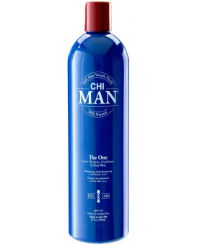 CHI Man The One 3-in1 šampūns, kondicionieris un dušas želeja (739ml)