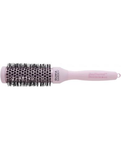 Olivia Garden ProThermal Pastel Pink plaukų šepetys (33mm)