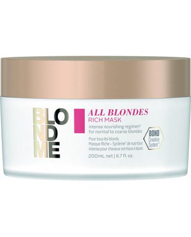 Schwarzkopf Professional BlondMe All Blondes Rich kaukė (200ml)