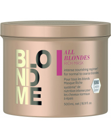 Schwarzkopf Professional BlondMe All Blondes Rich kaukė (500ml)