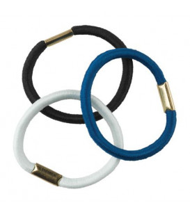 Multicolor thick hair rubbers (white,blue,black)