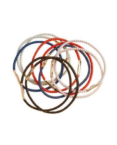 Разноцветные, тонкие резинки для волос (10шт.)