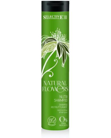 Selective Natural Flowers Nutri Shampoo šampūns bez sulfātiem