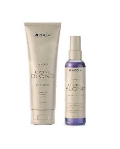 Indola Divine Blond somiņa (šampūns + sprejs-kondicionieris)
