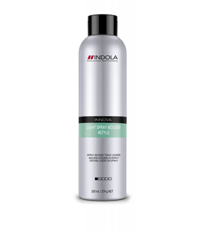 hair spray for styling indola innova style light spray mousse 4hair lv 6043