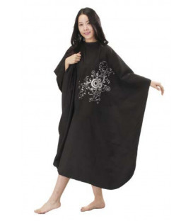 "Mila cape ""Peacock"", black"