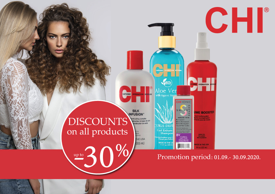 Special prices for CHI products