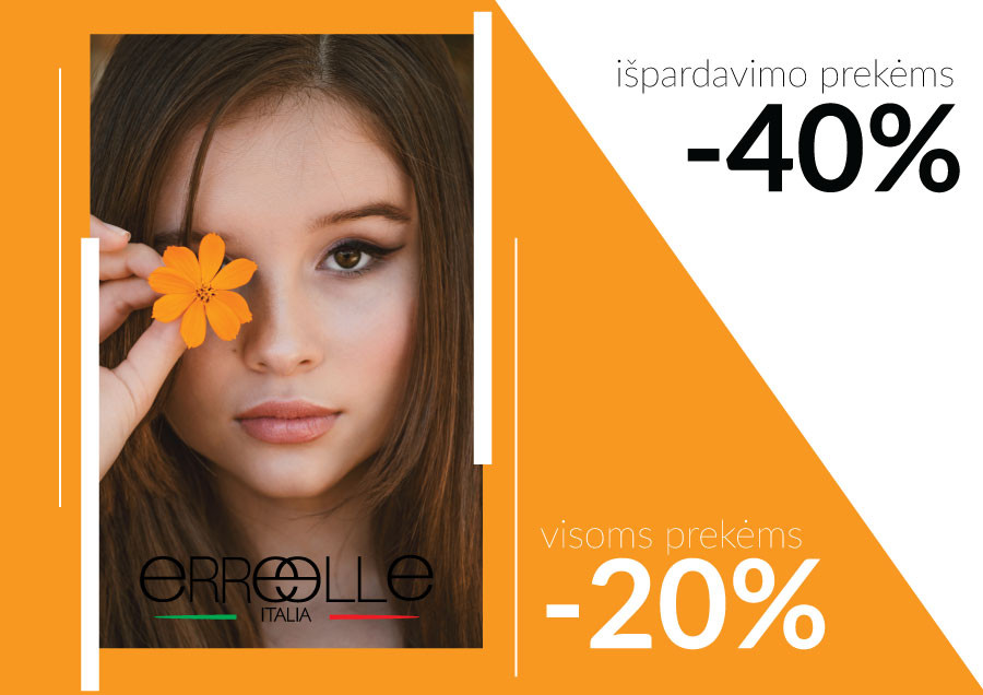 Special prices for ERREELLE products
