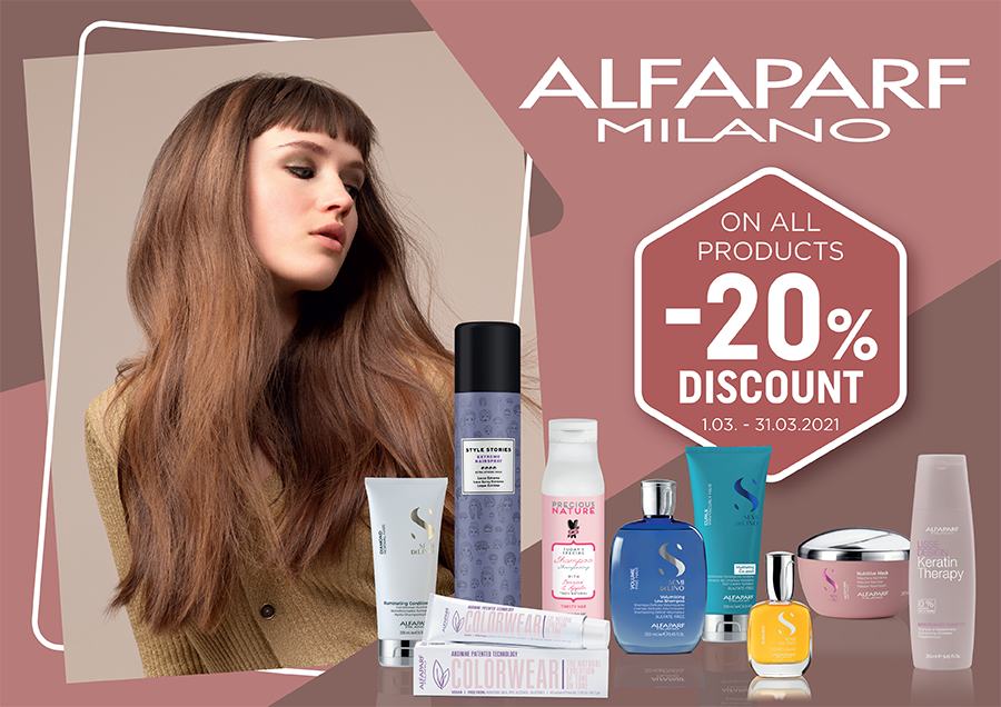 Special prices for ALFAPARF products