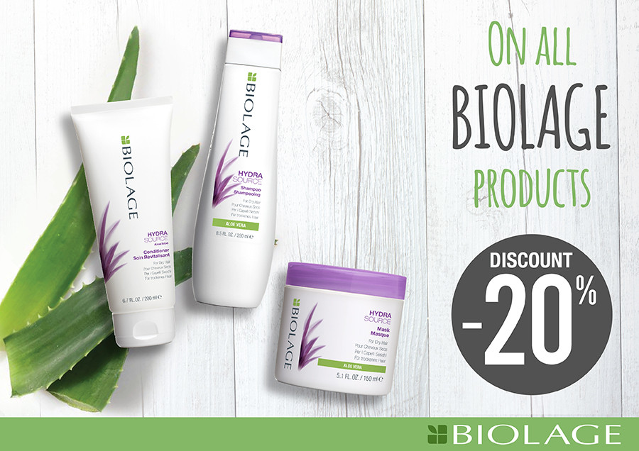 Special offer on BIOLAGE/MATRIX  products